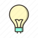 bulb, energy, idea, light bulb icon
