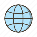 basic ui, globe, internet, network, world icon