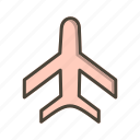 aeroplane, airplane, flight icon