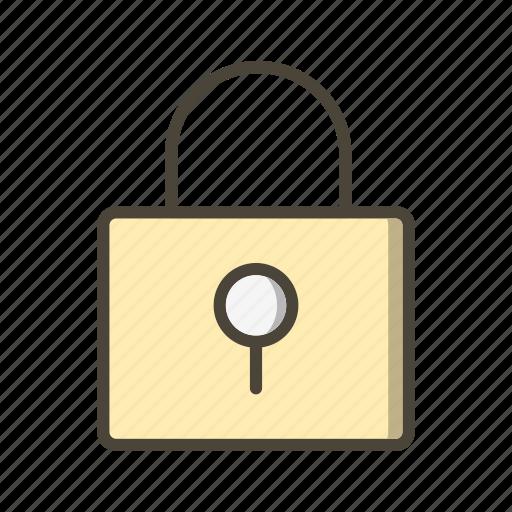 basic ui, lock, pad lock, protected, security icon