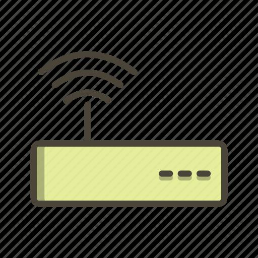 basic ui, internet, modem, wifi, wifi router icon