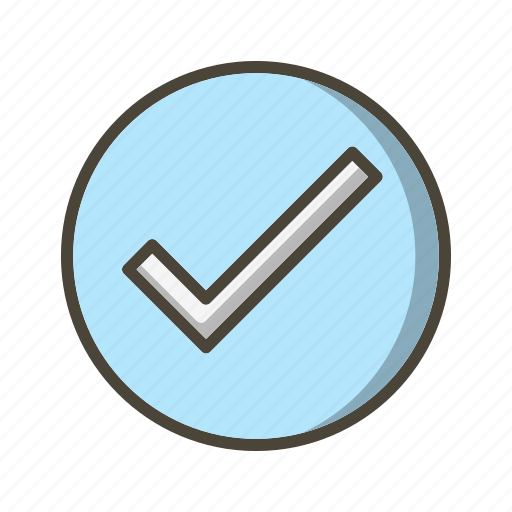 approved, basic ui, tick, valid, verified icon
