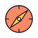 compass, gps, location, map, pin icon