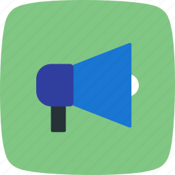 announcement, broadcasting, horn, protest, speaker icon