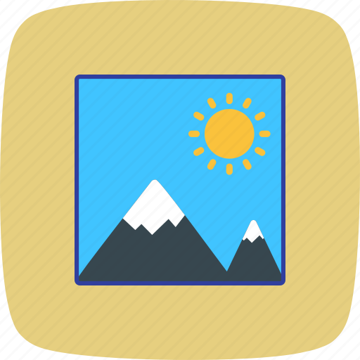 gallery, photo, picture icon