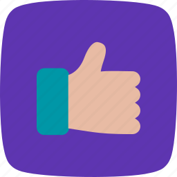 hand, interaction, like, thumbs up icon