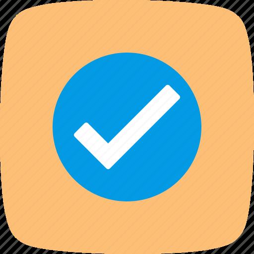 agree, tick, valid, verified icon