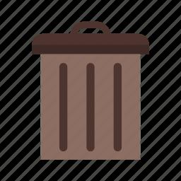 basket, delete, remove, trash icon
