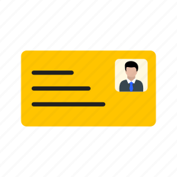 id, id card, identity card icon