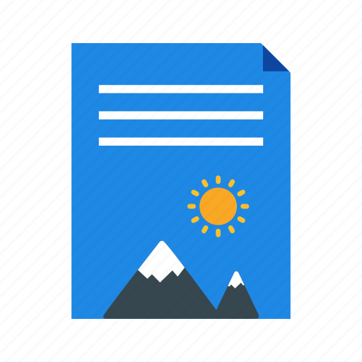 document, file format, image icon