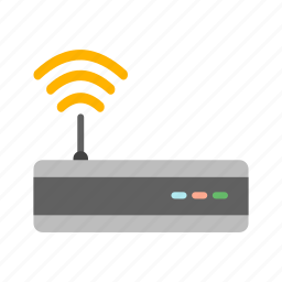 device, modem, network, router, signals, technology, wifi icon