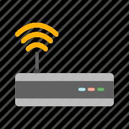 signal, wifi, wifi router icon