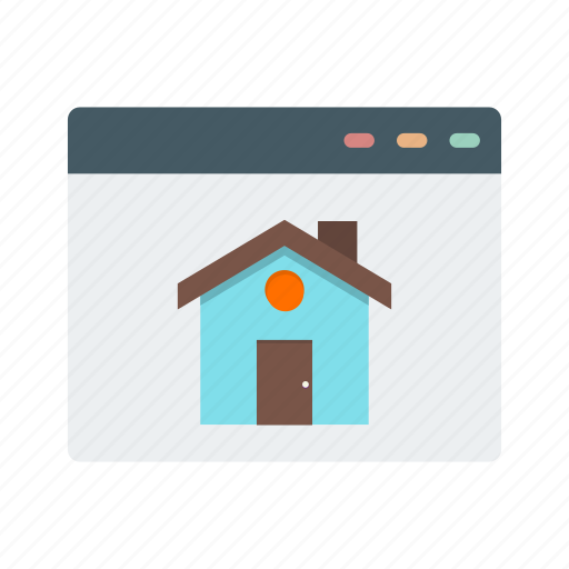 address, building, homepage, internet, page, web, website icon