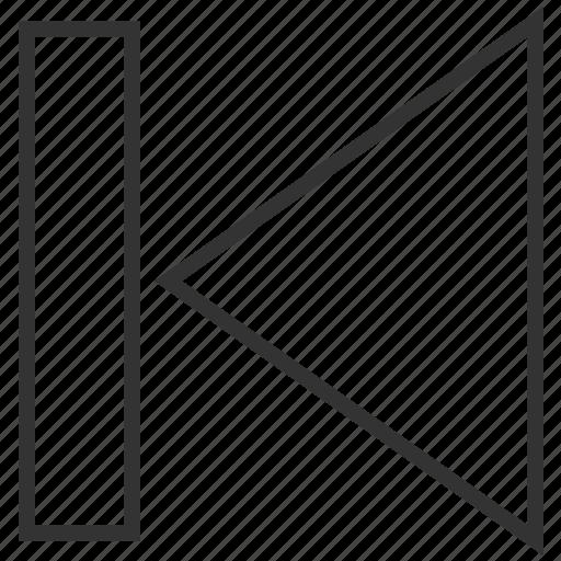 arrow, back, backward, direction, left, previous, return icon