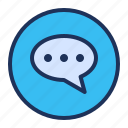 bubble, chat, comment, ui icon