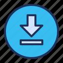 arrow, download, save, ui icon