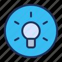 bright, idea, lamp, ui