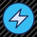 energy, light, speed, ui icon