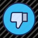 bad, dislike, thumb, ui icon