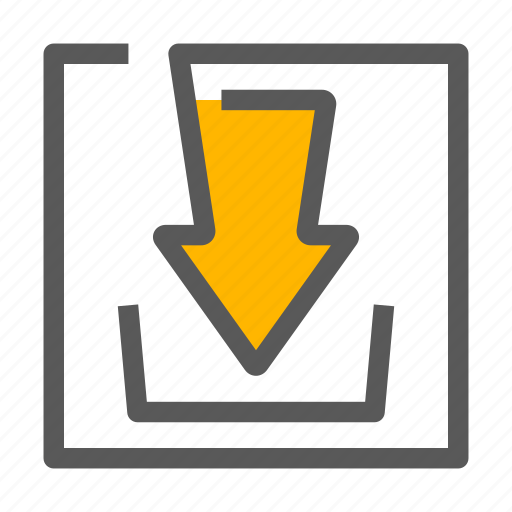 Arrow, down, download, hardisk icon - Download on Iconfinder