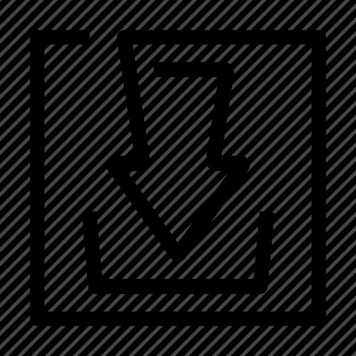 arrow, download, hardisk, save icon