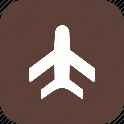 aeroplane, airplane, plane icon