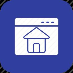 graphic, home, page, web icon