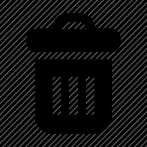 bin, can, delete, remove, trash icon