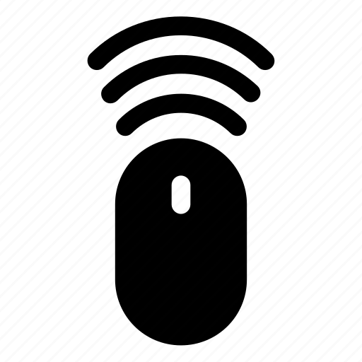 click, cursor, mouse, wifi, wireless icon
