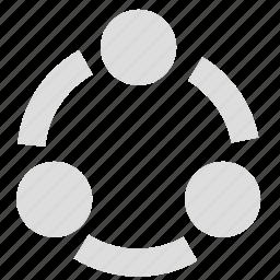 communication, media, network, share, social icon