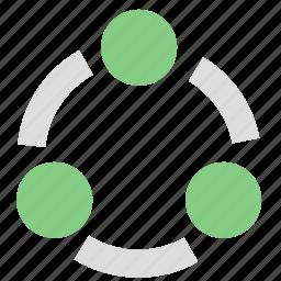 communication, internet, network, share, social icon