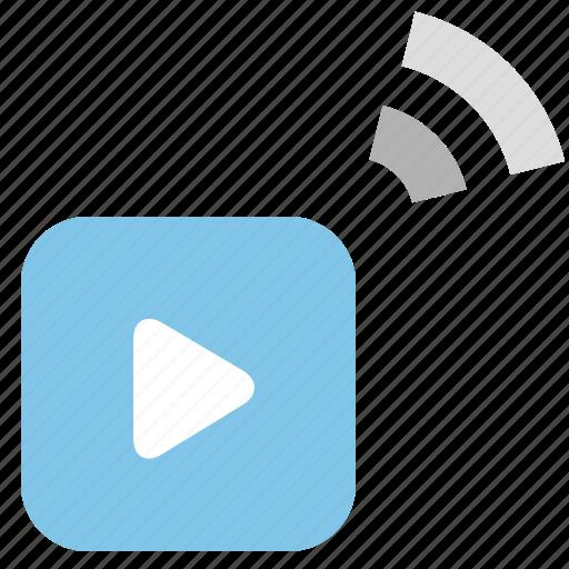 media, share, social, video icon