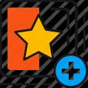 favorite, award, plus, star, winner, add, badge