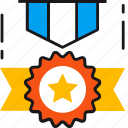 achievement, award, badge, medal, prize, winner icon