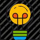 business, creativity, electricity, idea, light, lightbulb, think icon
