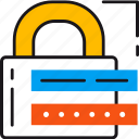lock, locked, padlock, password, protection, safety, security icon