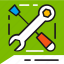 customer, help, repair, service, settings, support, tools icon