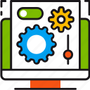 configuration, device, gears, options, settings, system, tools icon