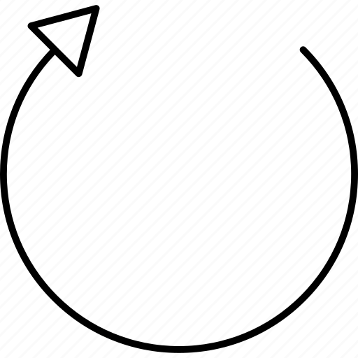 arrow, replay, restart icon
