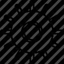 gears, settings, wheel icon