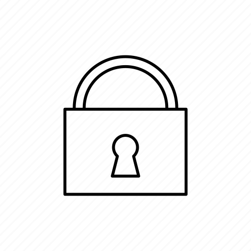 lock, locked, padlock, secure, security, tools and utensils icon
