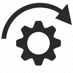 configuration, engine, gear, option, rotate icon