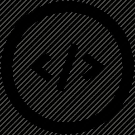 code, coding, development, programming, web code icon