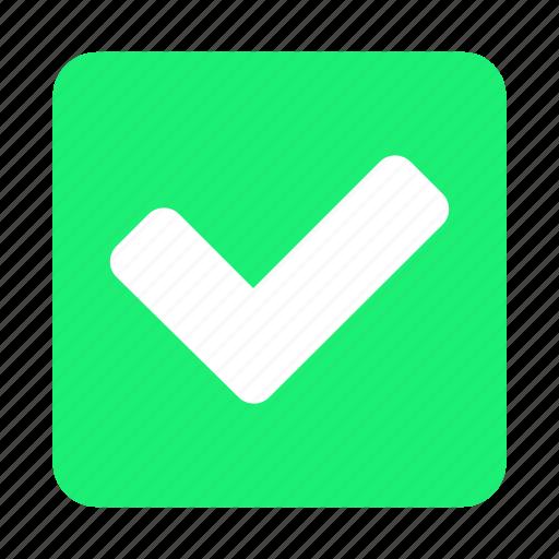 accept, check, confirm, mark, ok, select, tick icon