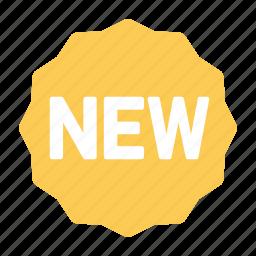 label, new, sale, sticker icon