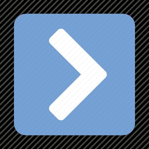 arrow, direction, forward, next, ok, right icon