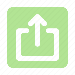 arrow, cloud, direction, file, share, upload icon