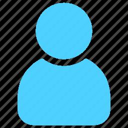 account, avartar, human, man, person, profile, user icon