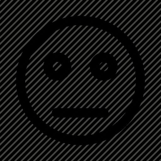blank, confuse, emoji, emotag, emoticon, explanation, faces icon