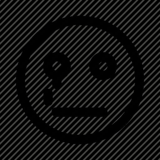 bad, confuse, cry, dislike, emotag, emoticon, faces icon